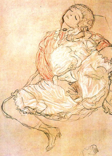 Masturbation (1916) by Gustav Klimt | Cupid Mantra